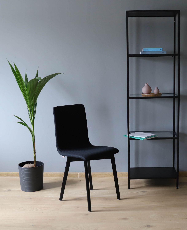 GRIM krzesło drewniane czarne