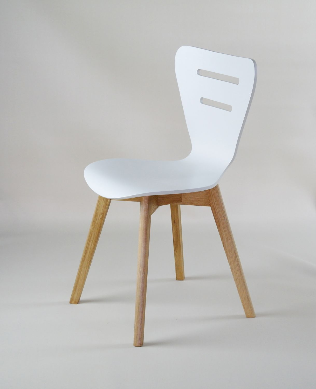 Bardzo dobra Krzesła DORIS W krzesło drewniane białe, dębowa rama HG91