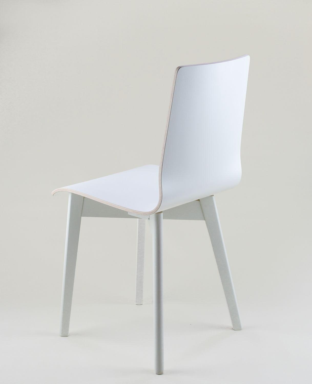 Luka W Krzesło Laminowane Białe Biała Rama